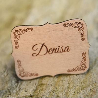 Svadobná menovka D3