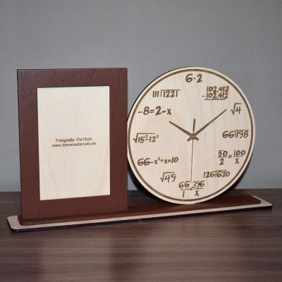 Darčekový fotorámik - matematické hodiny